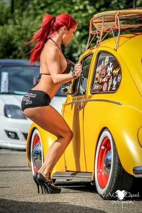vw .. fusca … beetle…, Sexy babe