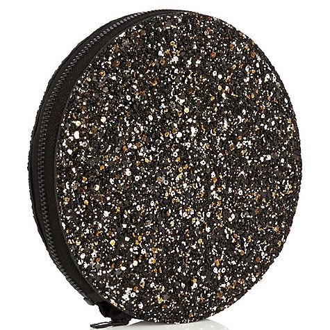 Buy Coast Basel Glitter Fold Away Tote Bag, Black Online at johnlewis.com