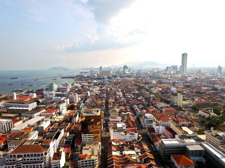 Penang Malaysia – Stock footage visa run with costs and food photos -