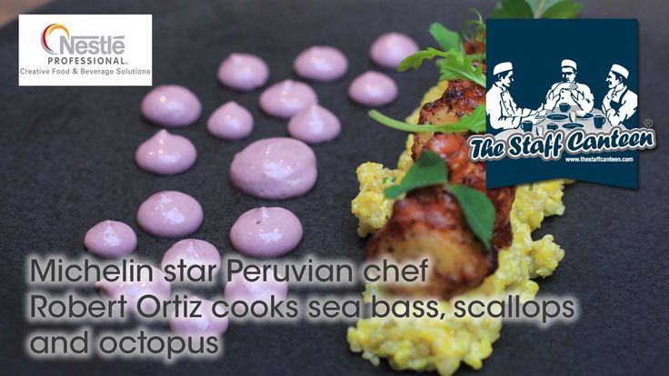 Michelin Star Peruvian Chef Robert Ortiz Cooks Sea Bass, Scallops And Octopus -- Watch Staff Canteen create this delicious recipe at http://myrecipepicks.com/28177/StaffCanteen/michelin-star-peruvian-chef-robert-ortiz-cooks-sea-bass-scallops-and-octopus/