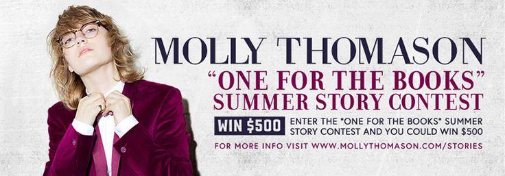 Win $500 CASH via Molly Thomason #OneForTheBooks summer story contest!