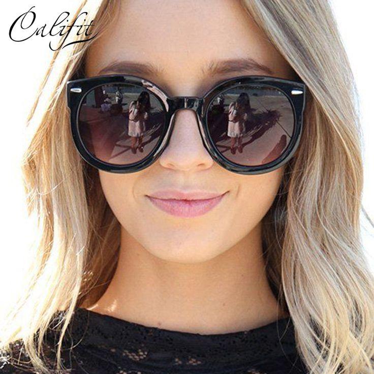 Vintage Round Sunglasses Female Sun Glasses For Women Eyewear Brand Designer Points Sun Oculos Woman UV400 Shades Gradient Lens