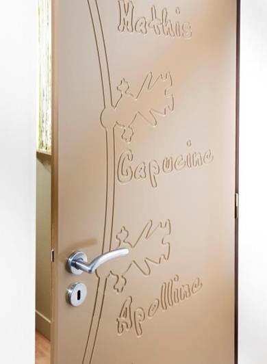 Enfin une porte personnalisable pour vos bambins ! Avec la possibilité de mettre 1 à 4 prénoms par face, figurines filles ou garçons, offrez-leur une chambre véritablement personnalisée!