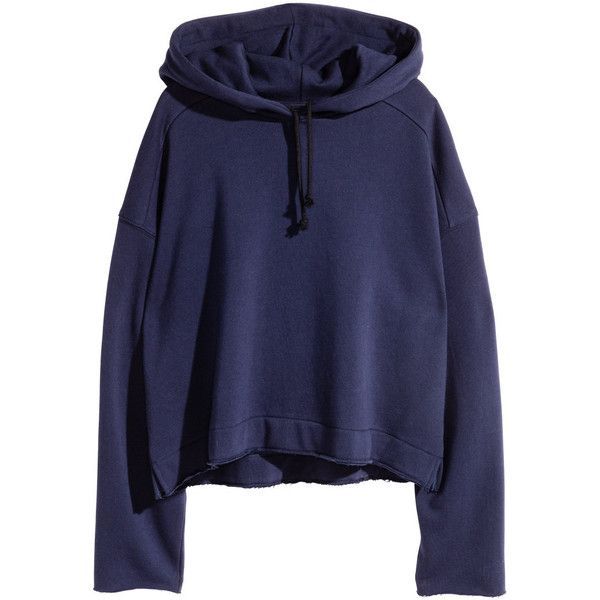 Oversized Hooded Sweatshirt $29.99 ($30) ❤ liked on Polyvore featuring tops, hoodies, short hooded sweatshirt, blue hoodie, oversized hooded sweatshirt, dark blue top and short tops