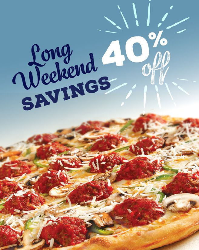 [Pizza Pizza]Celebrate the long weekend with 40% OFF! X-Large 3 TOPPINGS REGULAR PRICE $19.60 Sale:$11.76 http://www.lavahotdeals.com/ca/cheap/pizza-pizzacelebrate-long-weekend-40-large-3-toppings/190366?utm_source=pinterest&utm_medium=rss&utm_campaign=at_lavahotdeals
