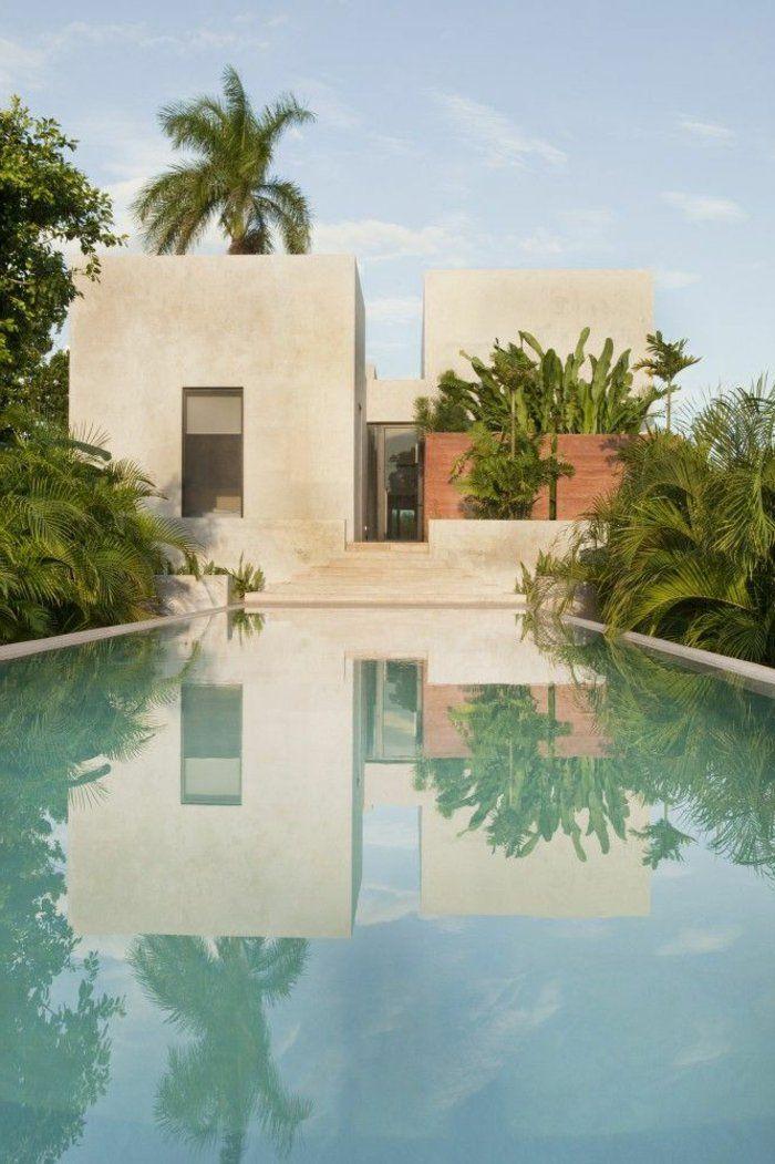 l'architecture minimaliste et la maison de style minimaliste avec une grande piscine
