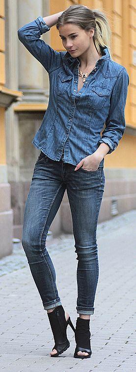 Linda Ryden Denim On Denim Outfit