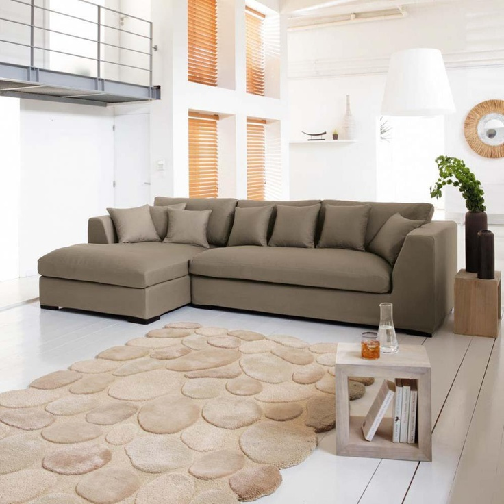 5 Seat Corner Sofa In Taupe Long Island IslandTaupe SofaLiving Room