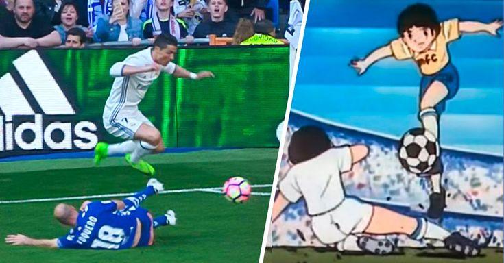 """Cristiano Ronaldo no anotó ninguno de los 3 goles con los que el Real Madrid venció al Alavés, pero se mandó una jugada impresionante estilo los """"Supercampeones"""""""