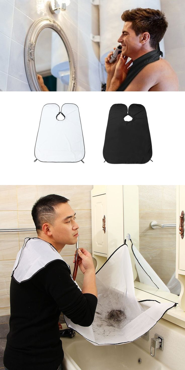 Men Beard Apron Bib Trimmer Trim Catcher Cape Sink Protection Cleaning Wrap With Suction Hooks Male Beard Shaving Use Wrap Apron