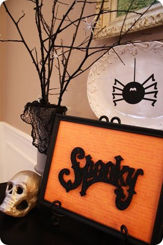 diy Halloween tree: Halloween Trees, Decorating Ideas, Holidays, Holiday Crafts Decorations, Halloween Ideas, Diy Halloween Decorations, Cheap Halloween Decorations