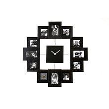 pt, Family Time Fotoklok Zwart - 40 cm