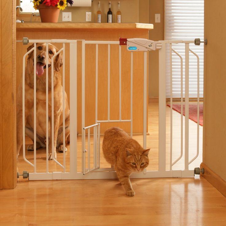 Extra Wide Pet Gate with Pet Door