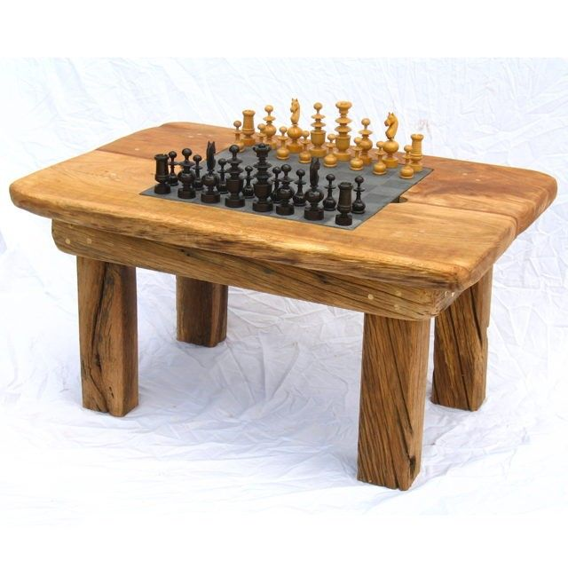 Small Wooden Chess Table