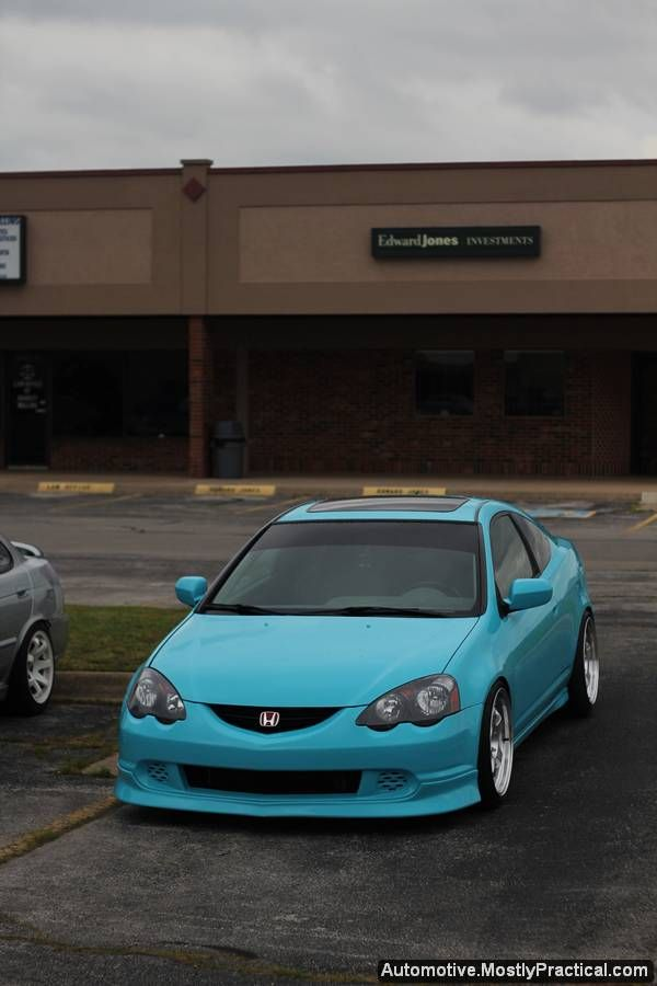 Tiffany Blue JDM Honda Acura RSX Integra DC5 on Varrstoen es6 rims. Check out my automotive galleries! #MostlyPractical