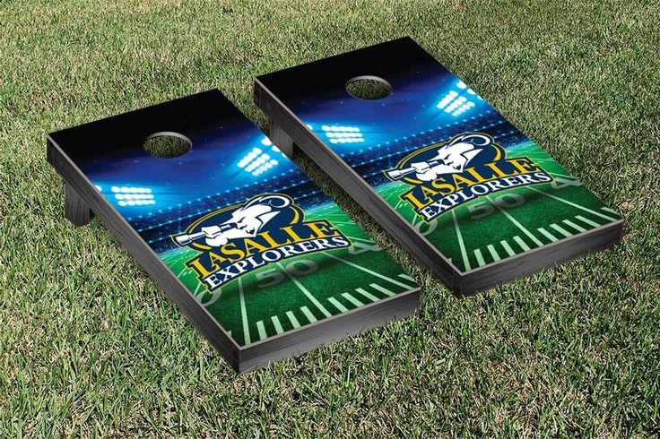 La Salle Explorers Team Stadium Cornhole Set