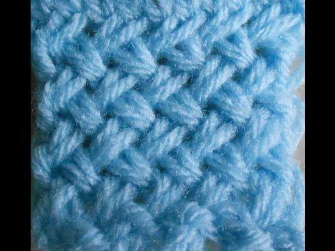 Hilda Eroles - vídeo 39 - boina em Ponto Knot e barra Jersey em tricô - knot stitch knitting beret - YouTube
