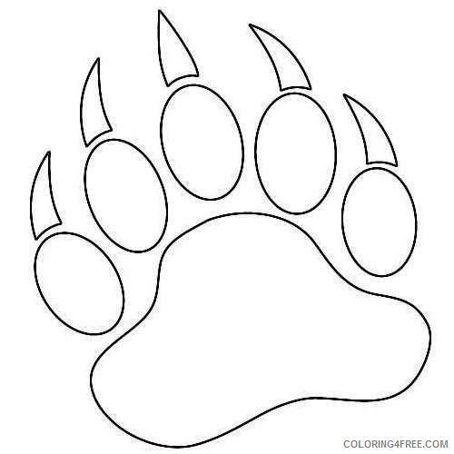Bear Paw Print Coloring Pages Bear Paw Print Paw Art Bear Coloring Pages