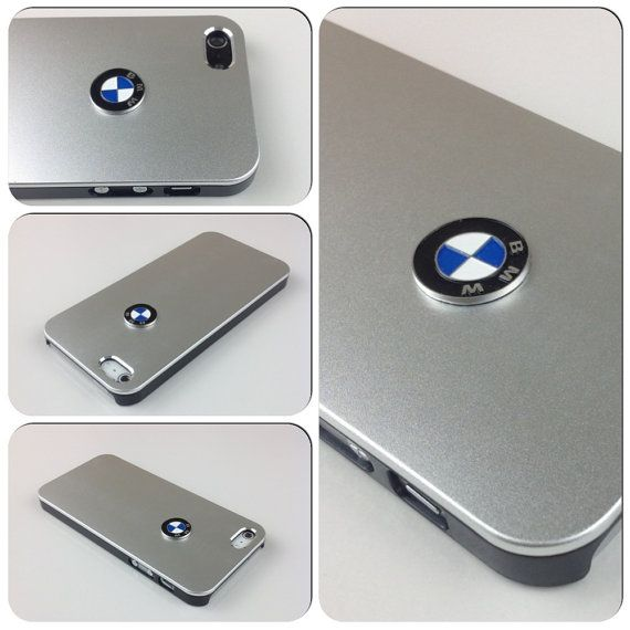 iPhone 5 cover BMW Sport Car Logo Carbon Aluminum metallic case - Silver on Etsy, $12.99