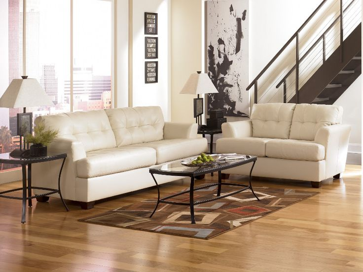 Delightful Durablend Ivory Sofa U0026 Loveseat #sofa #loveseat #livingroom #rana  #ranafurniture #