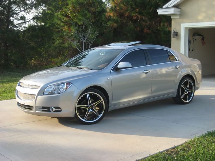 chevy malibu rims pics of my 39 08 ltz with new 20 39 s i love my toys pinterest cars chevy. Black Bedroom Furniture Sets. Home Design Ideas