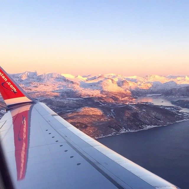 """""""One of our crew members took this picture after takeoff from Harstad/Narvik Airport today. Norway is beautiful, right? Thanks to Elise for sharing.…"""""""