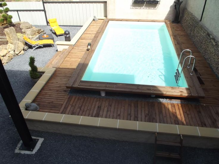 Meer dan 1000 idee n over piscine bois enterr e op for Piscine rectangulaire bois enterree