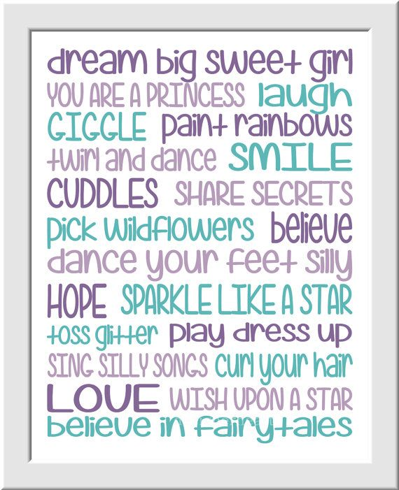 Purple Teal Girls Room Prints Baby Girl by DezignerheartDesigns