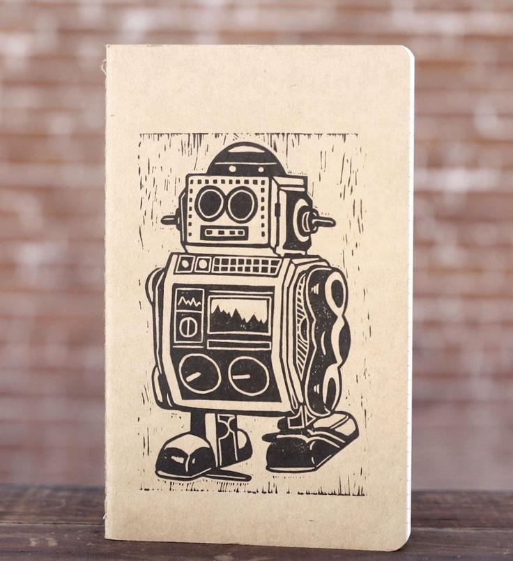 Mr. Robot Block Print Moleskine Notebook (Large). $14.00, via Etsy.