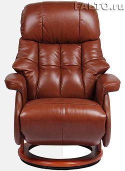 Кожаное кресло-реклайнер Relax Lux Electro