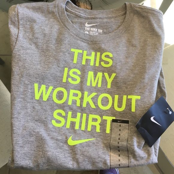 ⚽️LOWER PRICE⚽️NWT Nike t shirt NWT Nike t shirt that's grey and neon yellow Nike Tops Tees - Short Sleeve