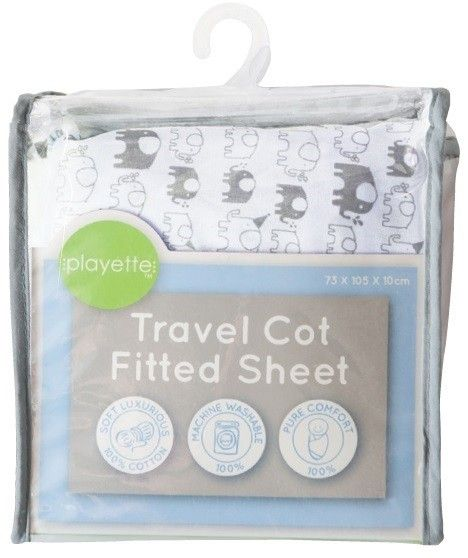 Buy Playette Travel Cot Fited Sheet - White Elephants  by Playette online and browse other products in our range. Baby & Toddler Town Australia's Largest Baby Superstore. Buy instore or online with fast delivery throughout Australia.