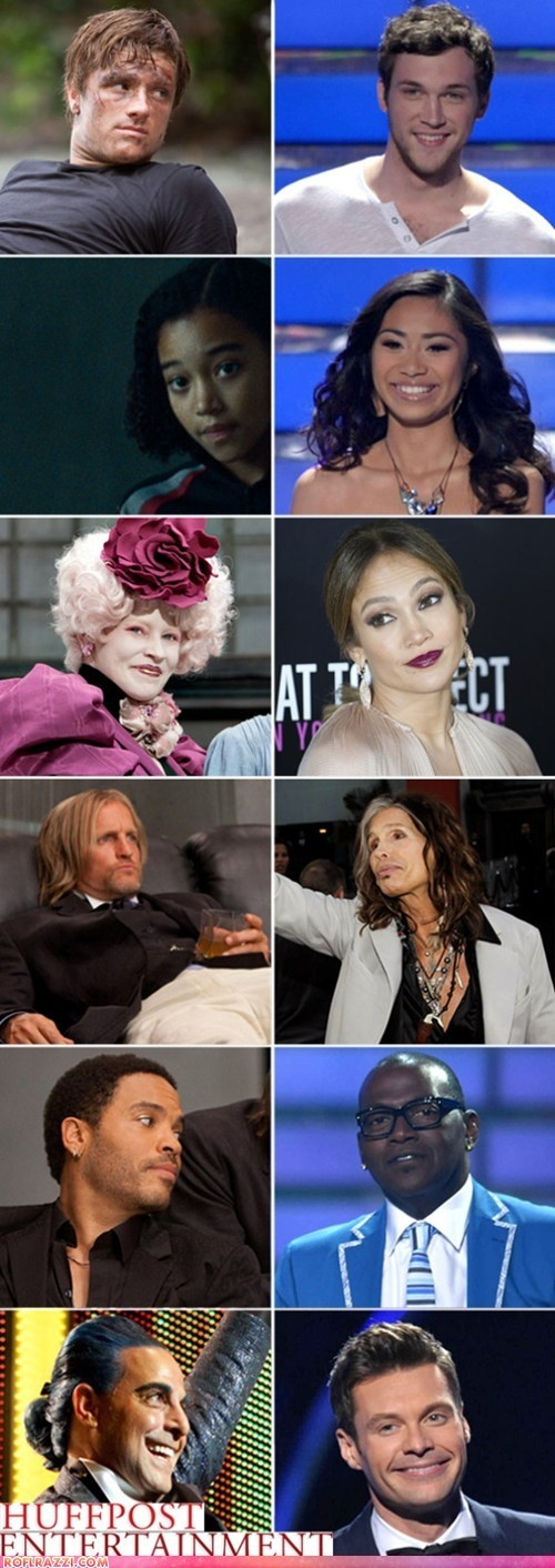 funny celebrity pictures - American Idol Hunger Games