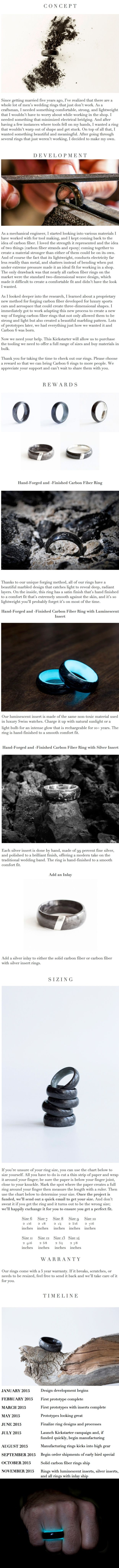 Carbon 6 Forged Carbon Fiber and Luminescent Rings by John Paul Easley — Kickstarter