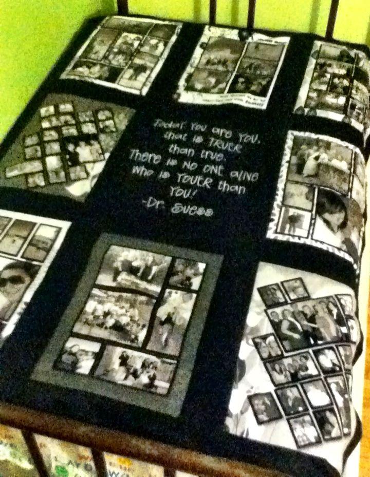 Photo fleece quilt