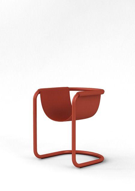 Shin Ji-Hoon; Enameled Steel 'Pipe Chair', 2014.