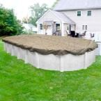 Desert Camo 12 ft. x 24 ft. Pool Size Oval Desert Camo Solid Winter Above Ground Pool Cover