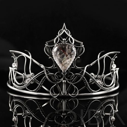 Lumière  An impressive, luxurious, sterling silver tiara with beautiful rutilated quartz. Perfect for wedding day and other special occasions. Entirely hand made, using the wire-wrapping technique.  $1,231.29 Click to see details!