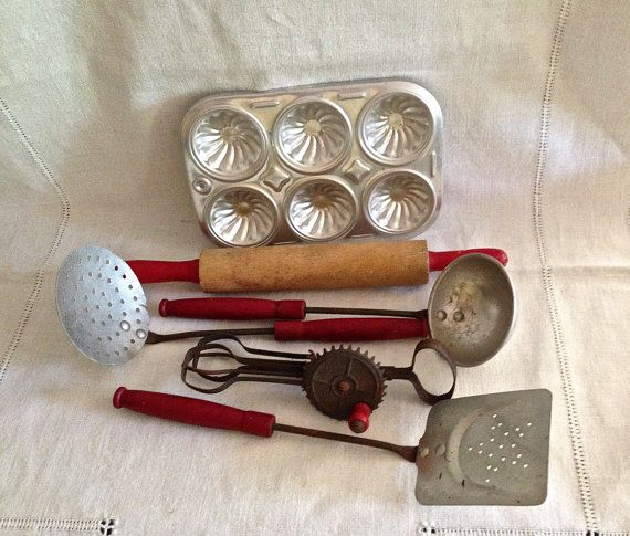 1000+ Images About Vintage Toy Kitchen Utensils On