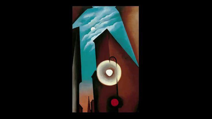 """Ciclo """"La ciudad moderna"""": Conferencia en torno a """"Calle de Nueva York con luna"""" (1925) de Georgia O'Keeffe. El director artístico del Museo, Guillermo Solana, analiza las fuentes arquitectónicas y el contexto artístico que influyeron en la producción de esta pintura. #ProgramaNosotras"""