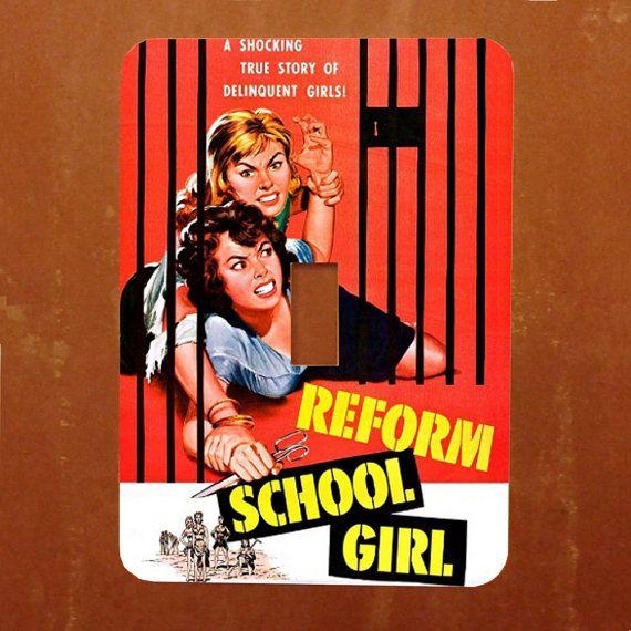 Reform School Girl  Vintage Kitsch Movie Pinup by Polkadotdog