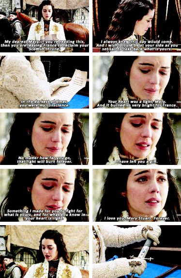 mary reading francis's letter #Reign #3x15 #SafePassage