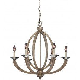 Savoy House - 1-1551-6-122 - Forum Gold Dust 6 Arm Chandelier @ Lamps.com