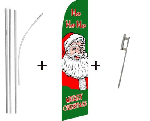 Merry Christmas Hohoho Quantity 4 Super Flag  Pole Kits >>> To view further for this item, visit the image link.