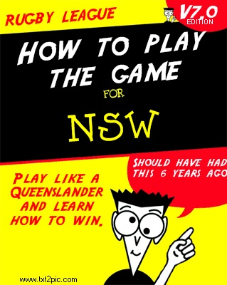 State of Origin. Dummies guide for NSW