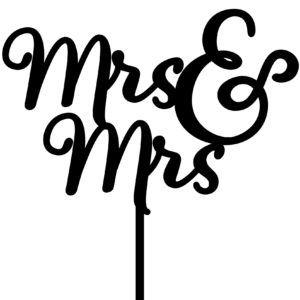 Imagine If Creative Studios - MDF Cake Topper - Mrs&Mrs Sign #2