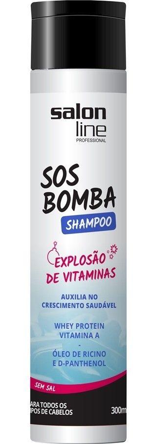 Shampoo SOS Bomba Salon Line Explosão de Crescimento Sem Sal 300ml