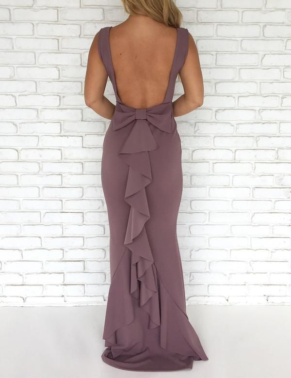 8226268c55609 Backless Bow Back Maxi Dress | evening wear | Dresses, Backless ...