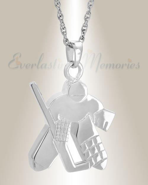 Pin By Everlasting Memories On 14k White Gold Urn Locket Memorial Pendant Hockey Players