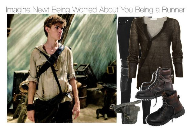 """Imagine Newt Being Worried About You Being a Runner"" by fandomimagineshere ❤ liked on Polyvore featuring Yves Saint Laurent, A.L.C. and American Eagle Outfitters"